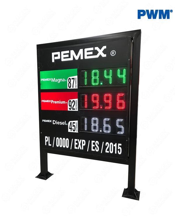 PREC-3P-1C-PWM-PISO-1.80-MTS-NUEVA-IMAGEN-PEMEX-PRECIADOR-ELECTRONICO-Preciador-Led-Con-Gabinete-Completo-Colores-Ultra-Brillante_600x